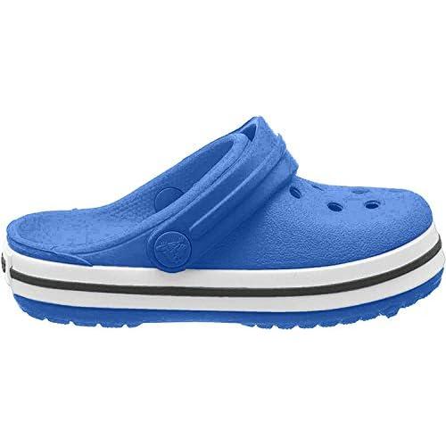 Crocs Crocband Clog Kids, Zoccoli Unisex-Adulto, Blu (Bright Cobalt/Charcoal), 20/21 EU