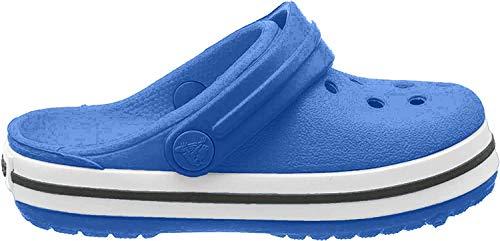 Crocs Crocband Clog Kids, Zoccoli Unisex-Adulto, Blu (Bright Cobalt/Charcoal), 34/35 EU