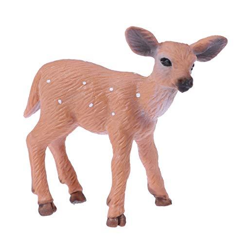 LUOEM Figura de Reno de Navidad Figura de Animal Decoraciones de Navidad de Mesa