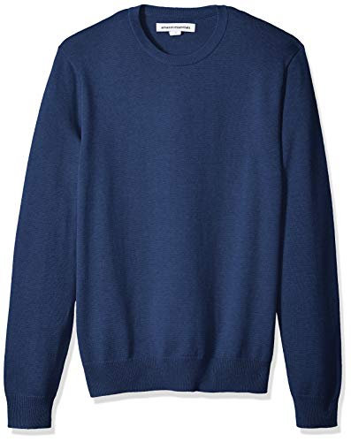 Amazon Essentials Men's Crewneck Sweater, Blue Heather, Large
