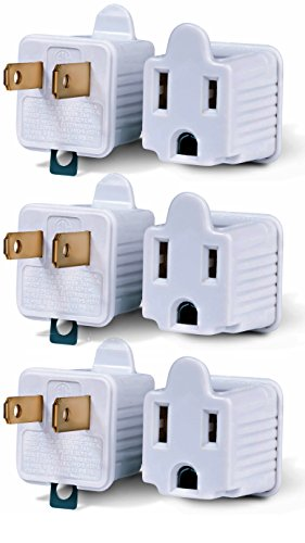 3-Prong to 2-Prong Adapter Grounding Converter 3 Pin to 2 Pin Power AC Ground Lifter For wall Outlets Plugs, Electrical, Household, Workshops, Industrial, And Appliances.