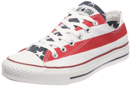 Converse Stars & Bars Ox, Unisex - Erwachsene Sneaker, Weiß (Blanc/bleu/rouge), 36 EU