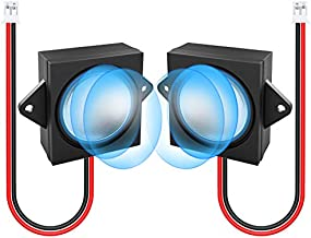 MakerHawk 2pcs Ar duino Speaker 3 Watt 8 Ohm Single Cavity Mini Speaker Full-Range Cavity Advertising Machine Speaker Connector Separating Interface 3.3V 5V with JST-PH2.0mm-2 pin Interface