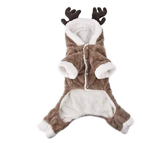 Jannyshop Vêtement d'hiver pour Animal Costume de Noël Wapiti Modèle pour Chien Vêtement en...