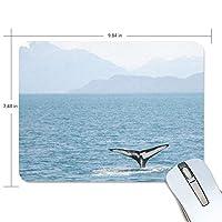 マウスパッド かわいい 広い 海 クジラのシッボ 高級 ノート パソコン マウス パッド 柔らかい ゲーミング よく 滑る 便利 静音 携帯 手首 楽