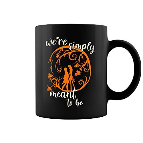 Jack Skellington and Sally Mug Nightmare Before We're Simply Meant to Be Tazza da caffè in ceramica (nero, 311,8 g)