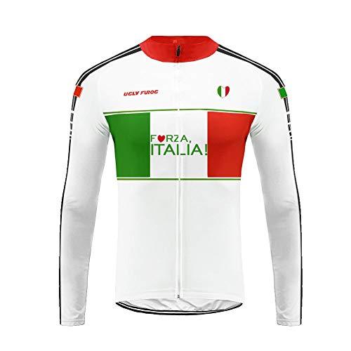Uglyfrog dai Italia! Nuovo Termico Invernale Uomo Manica Lunga Ciclismo Magliette Triathlon Abbigliamento