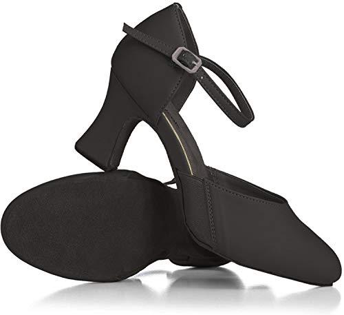 "Theatricals Adult EZ Flex 2"" Heel Flexible Character Shoe T3415BLK06.5M Black 6.5 M US"