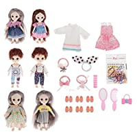 kowaku ファイン16cm可動13関節BJD人形3D目女の子人形子供のおもちゃDIYパーツ - スタイル 4