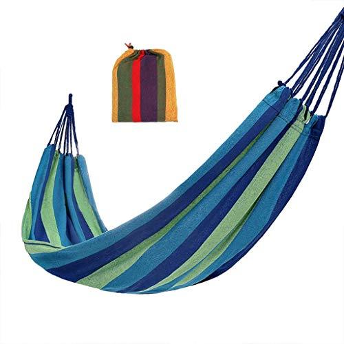 LYMUP Hamacas, Muebles de Camping Individual Multiescenario aplicable Anti-rollover Almacenamiento Portátil Sólido y Durable Carga 120 kg Cómodo (Color: Azul, Tamaño: 190 * 80 cm)