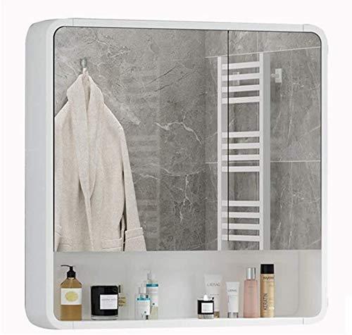 LAMTON Gabinete de gabinete de Pared de Pared de Pared con gabinete de Farmacia de la Pared cosmética gabinete de Pared de Pared (Color : Blanc, tamaño : 70 * 14 * 75cm)