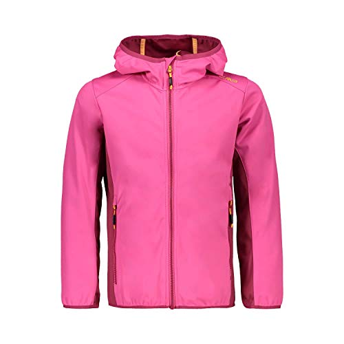 CMP Mädchen Softshell Jacket with Fixed Hood Jacke, Bouganville, 140