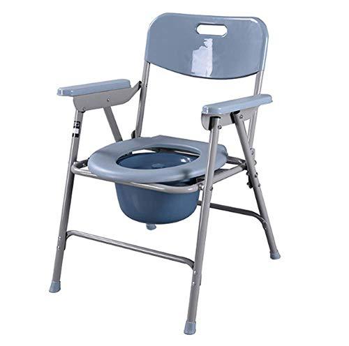 WWJQ Klappstuhl Toilettenstuhl Campingtoilette, Anti-Rutsch-Sicherheitsrahmen Ist Stabil - Last 150kg (330 Lbs)
