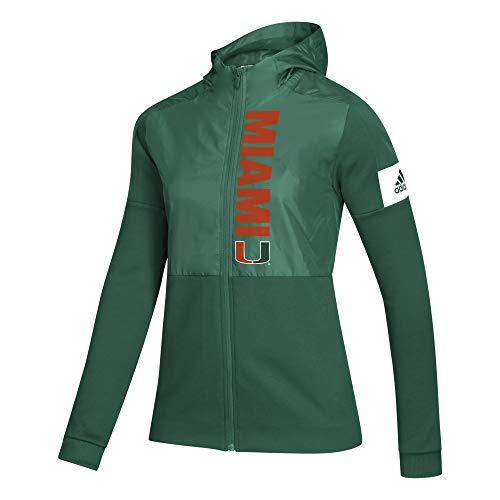 adidas NCAA Damen Game Mode Full Zip Jacke, Damen, Women's Game Mode Full Zip Jacket, grün, Large