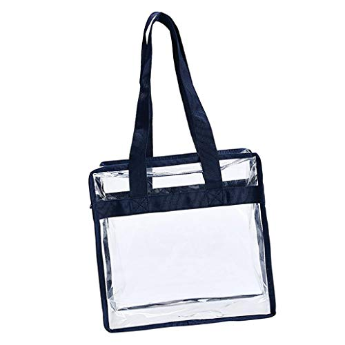 joyMerit Bolsa de Asas Transparente de 11x6x12 Pulgadas para Conciertos de Juegos Deportivos de Trabajo - Azul oscuro, tal como se describe