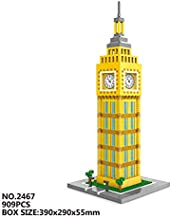 Zenghh Arquitectónicas en Torre de Elizabeth Modelo, Landmark famoso grande Torre del Reloj 3D Crafts, el Big Ben ornamento, históricos Bloques Reino Unido Ciudad, Diamond miniatura Puzzle Azulejos Ju