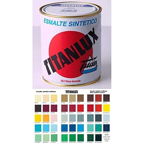 Titan 001055534 Esmalte Sintético, Rojo Inglés, 750 ml