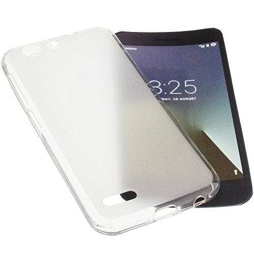 foto-kontor Tasche für Vodafone Smart E8 Gummi TPU Schutz Handytasche transparent weiß