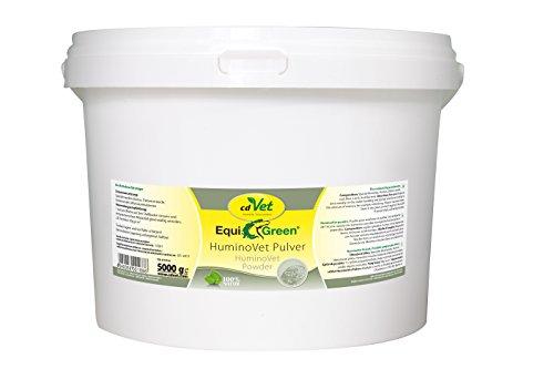 cdVet Naturprodukte EquiGreen HuminoVet Pulver 5 kg - Pferde - Rottebeschleuniger  - schädigende Belastung erheblich reduziert - gesunde Stallluft - Senkung des Keimdruckes - gesunde Tiere -