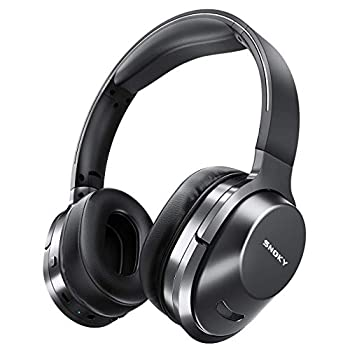 Wireless Headphones Snoky Bluetooth 5.0 Headphones Hi-Fi Stereo Deep Bass 26H Playtime Foldable Over Ear Headphones with Microphone Wireless Headset for Cell Phone Online Class Home Office TV Black