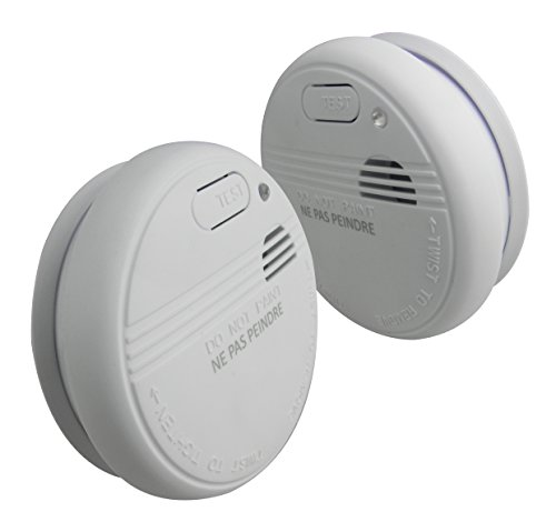 Lifedom - Lot de 2 détecteurs de fumée Lifedom & EN14604 - Garantie 5 ans & livré avec pile et accessoires