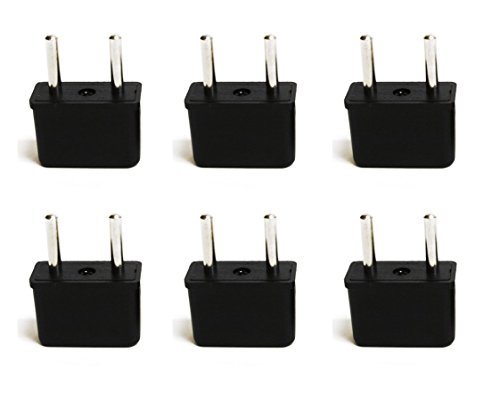 Cheap Ceptics USA to Europe Asia Plug Adapter - CE Certified - RoHS Compliant - 6 Pack