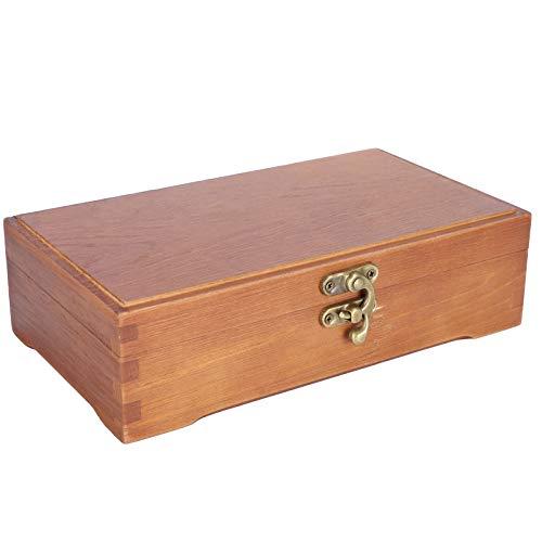 Joyero de madera, caja de papelería, caja de almacenamiento pequeña Caja de herramientas de madera Caja de almacenamiento de madera para maquillaje
