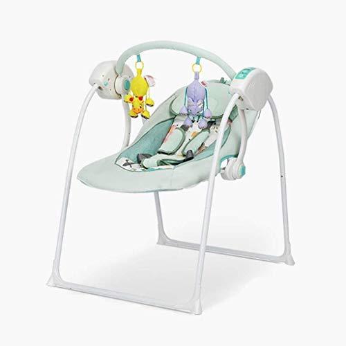 Yingeryaoyi Baby schommelstoel Baby schommelstoel, Five-Speed Swing Two-Speed Aanpassing Multi-Functie Comfort Stoel, Muziek Comfort Afstandsbediening Dual-Drive Swing Chair Baby schommelstoel
