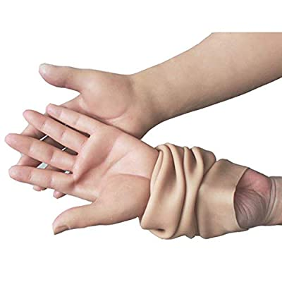 ZRB Pseudo Woman Silicone Gloves Simulation Female Skin Fake Hand for Skin Damage and Crossdresser Cosplay