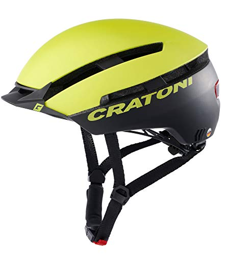 Cratoni C-Loom Allround Fahrradhelm E-Bike Helm Pedelec (Lime-schwarz matt, S/M (53-58 cm))