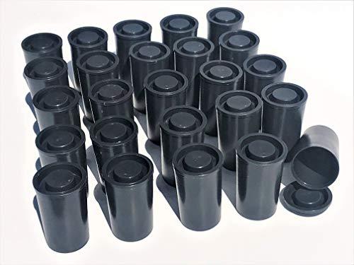 100 Schwarze Filmdosen mit Deckel Wasserdicht für Geocaching Samenaufbewahrung Basteln