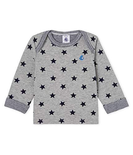 Petit Bateau Baby-Jungen Tee Shirt ML_5088601 Langarmshirt, Mehrfarbig (Subway/Smoking 01), 80 (Herstellergröße: 12M/74cm)