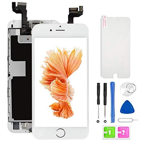 Ecran iPhone 6s LCD Vitre Tactile Complet sur Châssis pour iPhone 6s Blanc 4,7'' avec Outils Bouton Home Écouteur Interne Caméra De Face Tout Assemblé