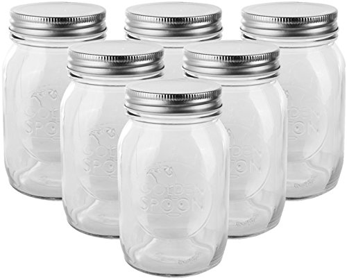 4 oz Mason Jars with Lids (Set of 6)