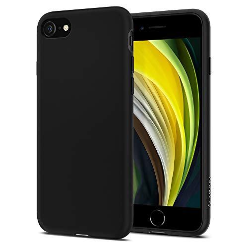 Spigen Cover Liquid Crystal Compatibile con iPhone SE 2020 Compatibile con iPhone 8 Compatibile con iPhone 7 - Matte Black