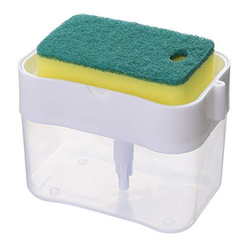 Dispensador de detergente líquido Lavavajillas Láved líquido Alabado de placa de placa de esponja Bomba de esponja Caja de almacenamiento Herramientas de limpieza de cocina Suministros de baño