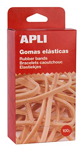 APLI 13355 - Elastici 80 x 2 mm in scatola 100 g