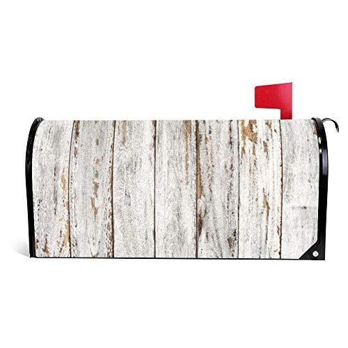 wendana Rustikale Holz-Briefkasten-Abdeckung, magnetisch, Vinyl, für Zuhause, Garten, Dekoration,...