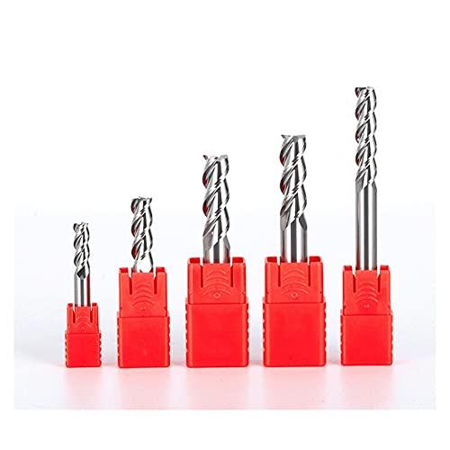 XYXXBB HRC55 End Mill Woodworking Tools Straight Flutes CNC Carbide Aluminum Copper Wood Milling Cutter Milling Tools (Cutting Edge Diameter : 18X18DX100L 3F, Dimensions : 20pcs)