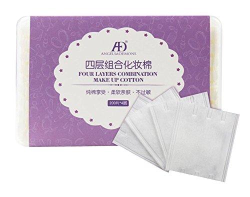 Nettoyage des tampons de maquillage pour le visage 200pcs