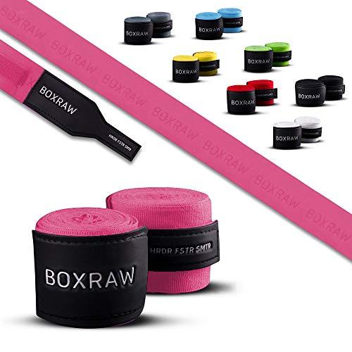 Professionelle Handwickel 4.5m Neon Pink | KOSTENLOSE Tragetasche & Gummierte Träger | Boxen MMA Erwachsene Elastische Bandagen