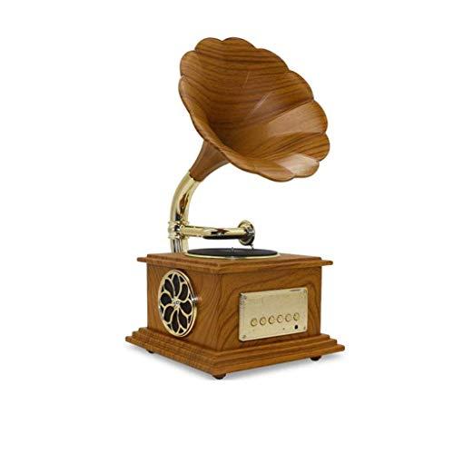 IW.HLMF Tocadiscos Bluetooth, Tocadiscos Retro, Tocadiscos con Altavoces estéreo Integrados, diseño de Maleta, marrón