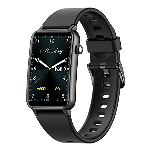 Smartwatch para Hombre Mujer, Reloj Inteligente Impermeable IP68 con Pulsómetro, Control de Musica, Monitor de Sueño, Podómetro Pulsera Smart Watch, Reloj Deportivo per Android iOS,Black
