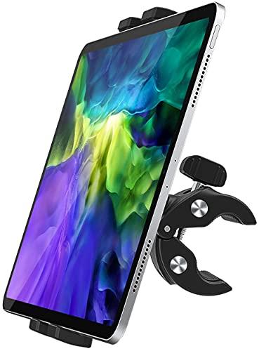 woleyi バイク タブレット ホルダー スマホ スタンド タブレット マウント 自転車 フィットネスバイク トレッドミル取り付け 滑り止め360度回転ハンドルバーマウント 対応4-12.9インチデバイス iPad Pro 11 10.5 9.7 / Air Mini 5 4 3 2 / iPhone 12 / 12 Pro / 11 / SE