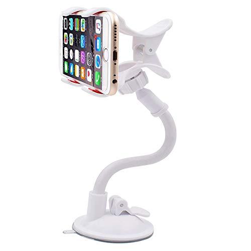 Miyabitors Support De Téléphone Portable Bureau Support Paresseux Universel Vibrato Vidéo en Direct Regarder La TV Soutien Multi-Fonction Créatif Simple Support À Ventouse (Color : White)