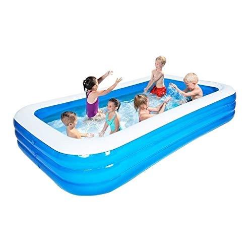 Explotar piscina Piscina for los niños, la interacción familiar fiesta en la piscina de verano, jardín al aire libre del patio trasero portátil de juegos de agua piscina 365X200X60 Cm Piscina interact