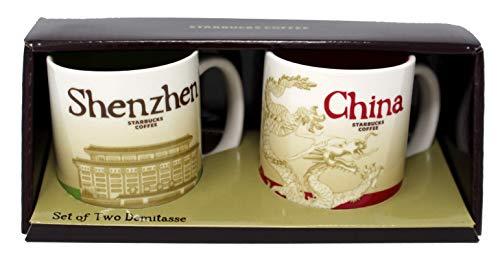 Starbucks Global Icon Mini Series Demitasse Mugs, Shenzhen and China