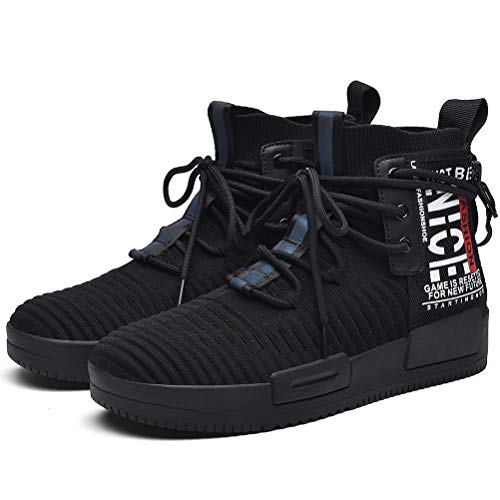 XIDISO Mens Fashion Sneaker High Top Shoes Walking Shoe for Ourdoor Indoor Casual Sports Athletic