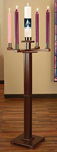 Freistehend Kirche Adventskranz mit Kerzen