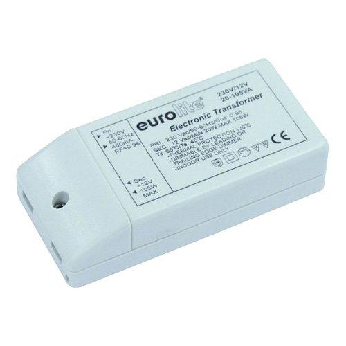 Eurolite 51402242 Elektronischer Trafo (12V, 20 bis 105VA) weiß